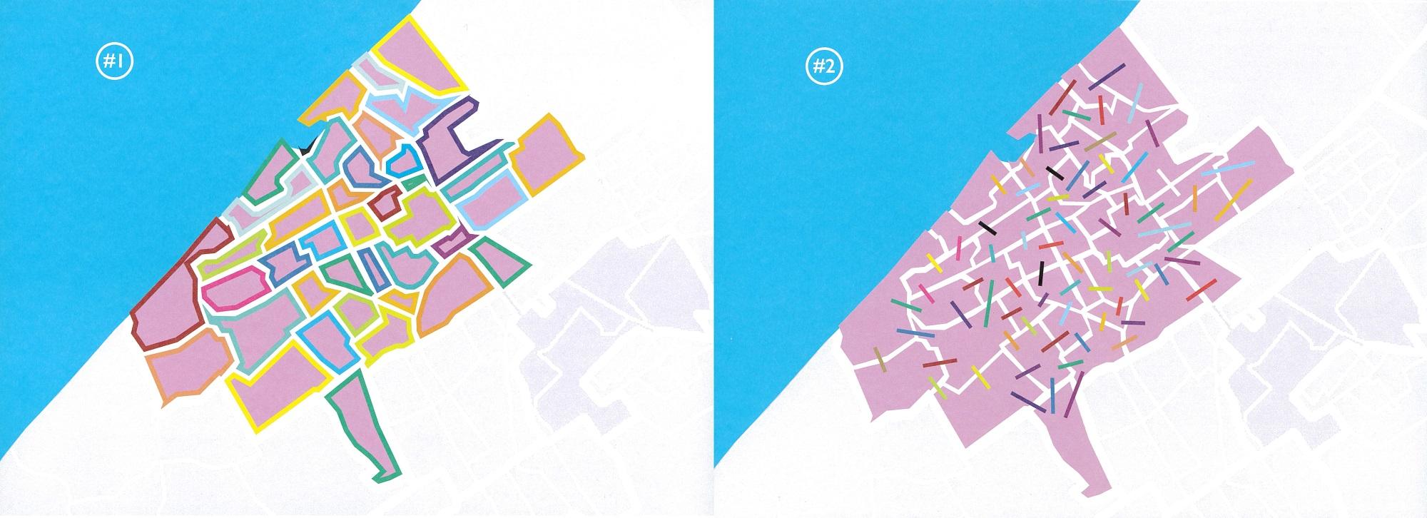 Kaarten met wijken en verbindingen in Den Haag