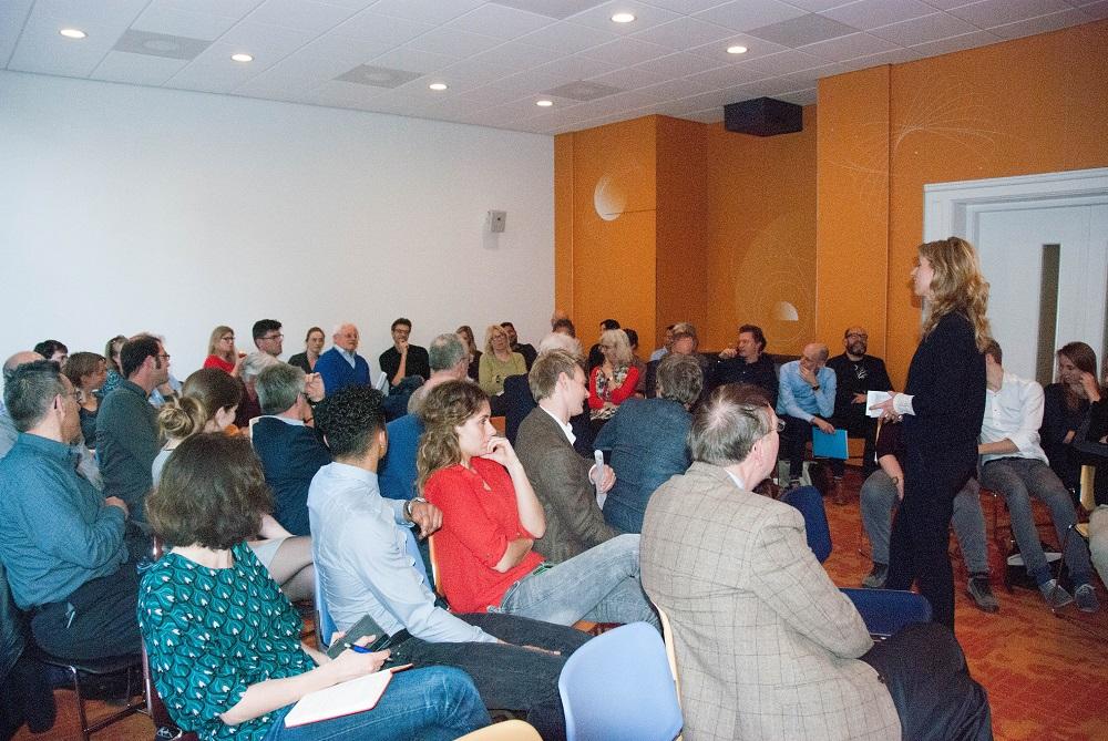 de zaal in gesprek over klimaatadaptatie