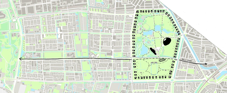 nieuw zuidwest plattegrond met torens rondom het zuiderpark