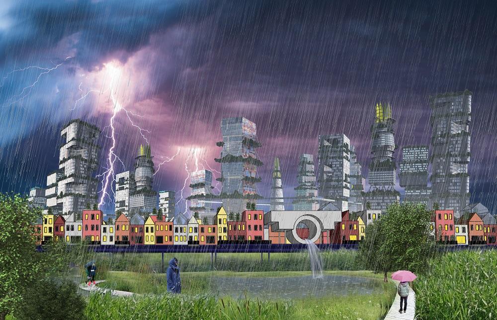 toekomstvisie schenkpark klimaatadaptatie in CID den haag - team WAM