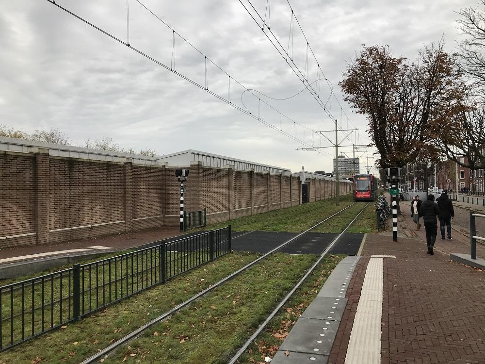 Muur langs Haagse Markt