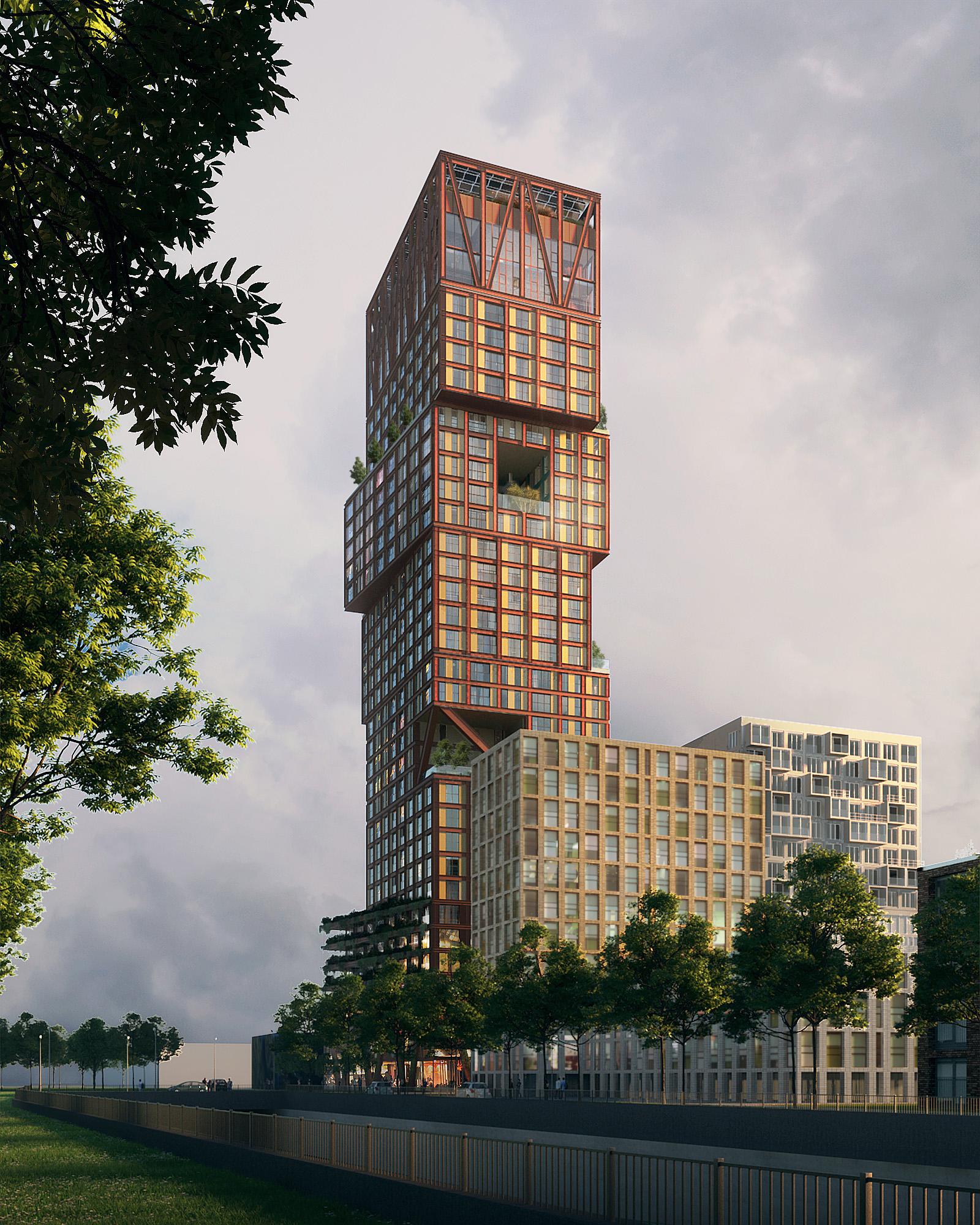 woontoren Binck Blocks op de binckhorst ontwerp LEVS architecten