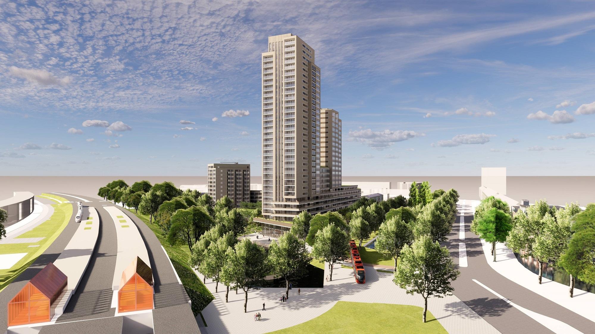 hoogbouw project levels bij station moerwijk