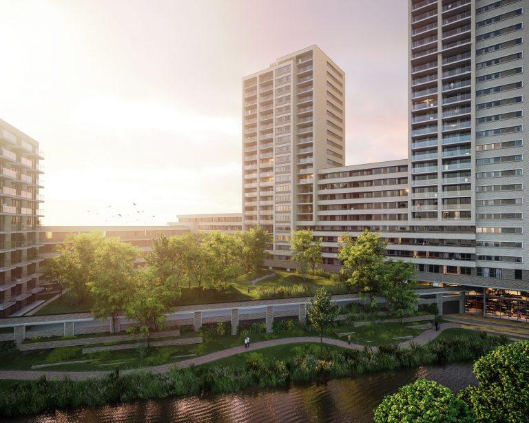 daktuin inlevels hoogbouw project Moerwijk